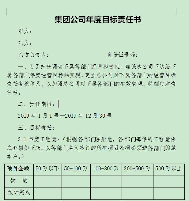 市政设计院-公司将对各下属部门实行目标责任考核制度